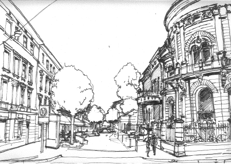 Widok od strony ulicy Gdańskiej